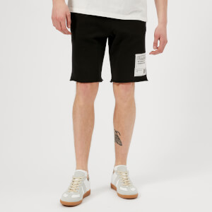 Maison Margiela Men's Cotton Jersey Stereotype Shorts - Black