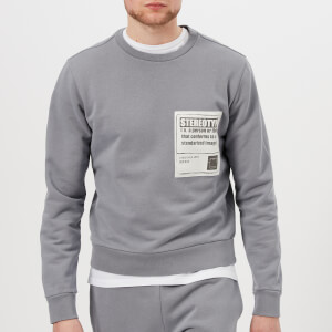 Maison Margiela Men's Cotton Stereotype Patch Sweatshirt - Shark