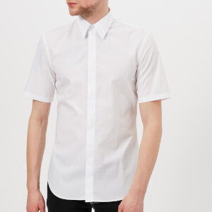Maison Margiela Men's Fine Poplin Short Sleeve Shirt - White