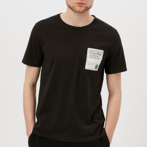 Maison Margiela Men's Garment Dyed Stereotype Patch T-Shirt - Black