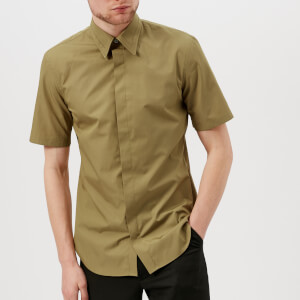 Maison Margiela Men's Fine Poplin Short Sleeve Shirt - Khaki