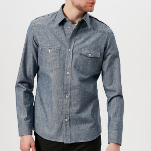Maison Margiela Men's Double Chest Pocket Shirt - Chambray