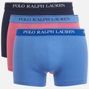 Polo Ralph Lauren Men's Classic 3 Pack Trunk Boxer Shorts - Navy/Pink/Blue