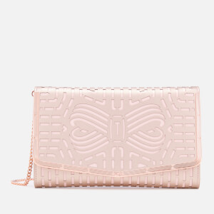 Ted Baker Women's Bree Cut Out Bow Clutch Bag - Rose Gold