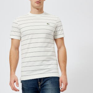 Lacoste Men's Small Stripe T-Shirt - Flour/Navy Blue