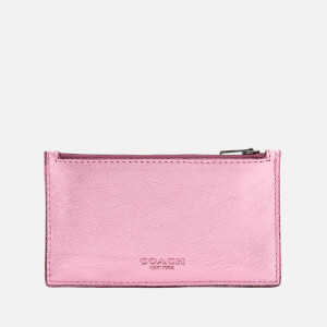 Coach Women's Metallic Zip Card Case - Primrose