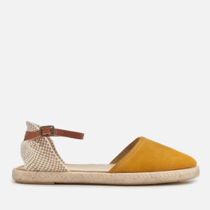 Hudson London Women's Borneo Suede Espadrilles - Yellow