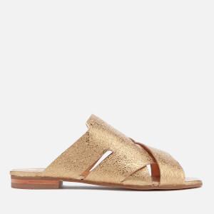 Hudson London Women's Lonatu Leather Slide Sandals - Gold