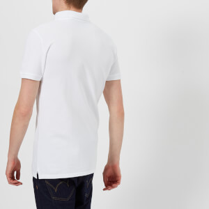 Maison Kitsuné Men's Tricolor Fox Patch Polo Shirt - White: Image 2