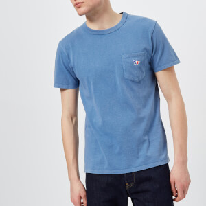 Maison Kitsuné Men's Tricolor Fox Patch T-Shirt - Blue