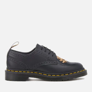 Dr. Martens Women's Joyce Heart Polished Leather Brogues - Black/Medium Leopard