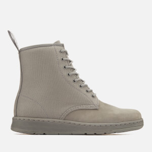 Dr. Martens Men's Newton Lite Canvas 8-Eye Lace Up Boots - Grey