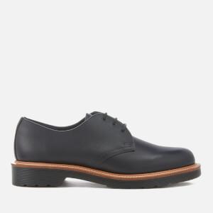 Dr. Martens Men's 1461 Straw Grain/Polished Leather 3-Eye Shoes - Black