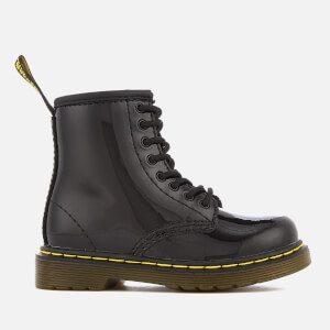Dr. Martens Toddlers' Brooklee Patent Lamper Leather Lace Up Boots - Black