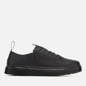 Dr. Martens Men's Dante Zip Softy T Leather 6-Eye Shoes - Black