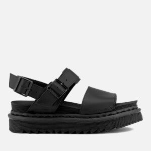 Dr. Martens Women's Voss Leather Double Strap Sandals - Black