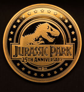 "Jurassic Park ""Amber"" Collectors Coin: Gold variant - Zavvi Exclusive (Limited to 1000)"