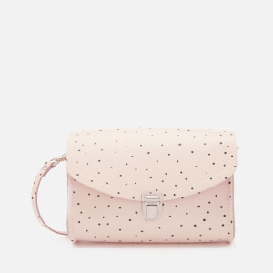 The Cambridge Satchel Company Women's Medium Push Lock Bag - Dot Print on Chalk