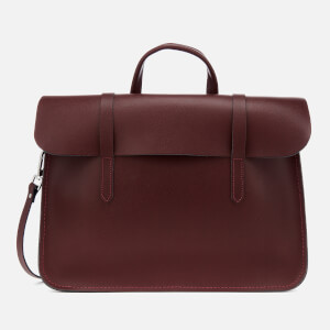 The Cambridge Satchel Company Women's Folio Bag - Oxblood Saffiano