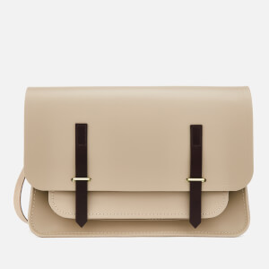 The Cambridge Satchel Company Women's New Bridge Closure Bag - Putty/Dark Brown
