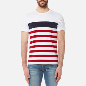 Tommy Hilfiger Men's Nas Striped T-Shirt - Bright White
