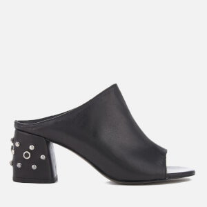 Rebecca Minkoff Women's Selene Studs Leather Heeled Mules - Black