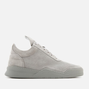 Filling Pieces Men's Ghost Tone Low Top Trainers - Cement Grey