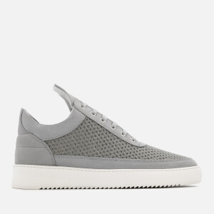 Filling Pieces Men's Ripple Mesh Low Top Trainers - Light Grey