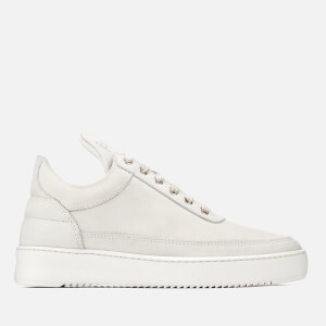 Filling Pieces Ripple Basic Low Top Trainers - All White