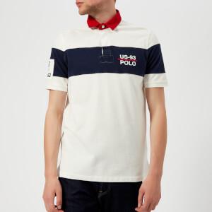 Polo Ralph Lauren Men's Basic Mesh Rugby Polo Shirt - Deckwash White