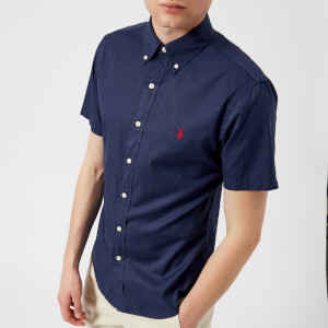 Polo Ralph Lauren Men's Short Sleeve Chino Shirt - New Classic Navy