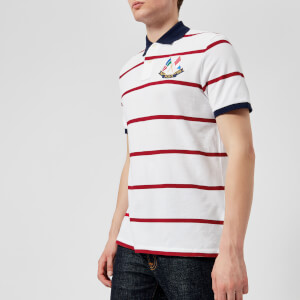 Polo Ralph Lauren Men's Cross Flags Polo Shirt - White/Ralph Red