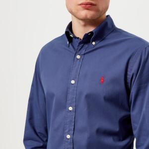 Polo Ralph Lauren Men's Long Sleeve Chino Shirt - New Classic Navy