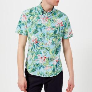 Polo Ralph Lauren Men's Short Sleeve Palm Floral Shirt - Blue