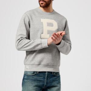 Polo Ralph Lauren Men's P Logo Crew Neck Sweatshirt - Vintage Salt/Pepper Heather