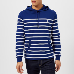Polo Ralph Lauren Men's Hooded Striped Top - Fall Royal/White