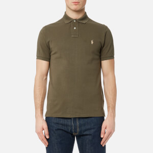 Polo Ralph Lauren Men's Short Sleeve Weathered Mesh Shirt - Defender Green