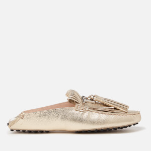 Tod's Women's Gommino Fringe Metallixc Leather Loafers - Gold