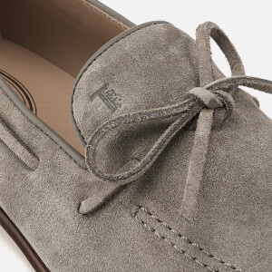Tod's Men's Suede Lace Detail Mocassins - Beige: Image 4