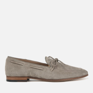 Tod's Men's Suede Lace Detail Mocassins - Beige: Image 1