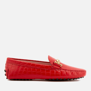 Tod's Women's Print Croc Gommino Driving Shoes - Red