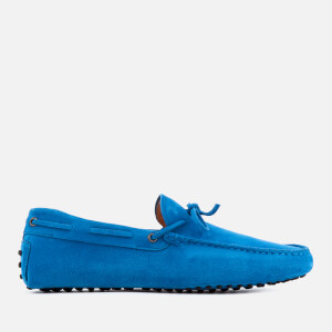 Tod's Men's Gommino Suede Driving Shoes - Bright Blue