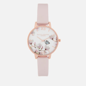 Olivia Burton Women's Pretty Blossom Butterfly Watch - Blossom & Rose Gold