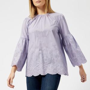 MICHAEL MICHAEL KORS Women's Lace Sleeve Top - Light Quartz