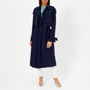 MICHAEL MICHAEL KORS Women's Drapey Trench Coat - True Navy
