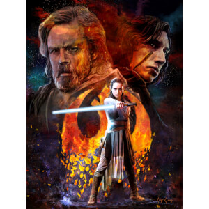 "Star Wars: The Last Jedi ""Disturbance"" Lithograph By Cliff Cramp (18""x 24"") Zavvi UK Exclusive Limited To 250 Pieces"