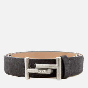 Tod's Men's Suede Double T Belt - Blue