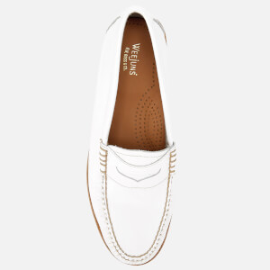 Bass Weejuns Women's Penny Wrinkle Textured Leather Loafers - White: Image 3