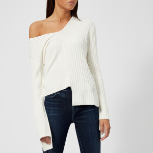 Helmut Lang Women's Off the Shoulder Jumper - Cotton Ball