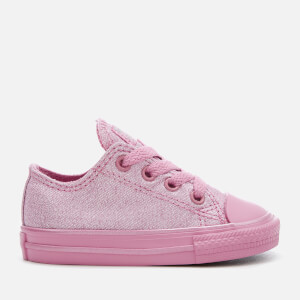 Converse Toddlers' Chuck Taylor All Star Ox Trainers - Light Orchid/Silver